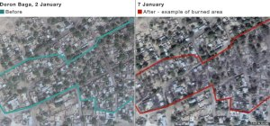 Satellite Images of Baga Destruction by Boko Haram