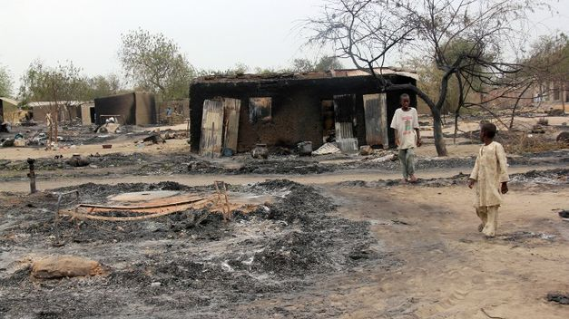 Boko Haram Destruction from Baga